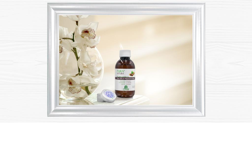 L'olio di Mandorle e il burro di Karité rappresentano la quintra essenza della cura della pelle per mantenere o riacquistare la giusta elasticità della pelle